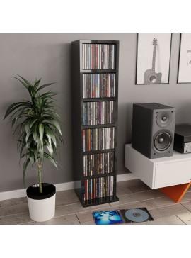 Έπιπλο για CD Γυαλιστερό Μαύρο 21 x 16 x 88 εκ. από Μοριοσανίδα  800358