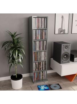 Έπιπλο για CD Γυαλιστερό Γκρι 21 x 16 x 88 εκ. από Μοριοσανίδα  800359