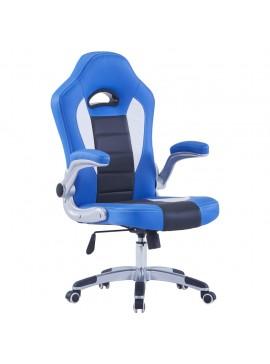 Καρέκλα Gaming Μπλε από Συνθετικό Δέρμα  20191