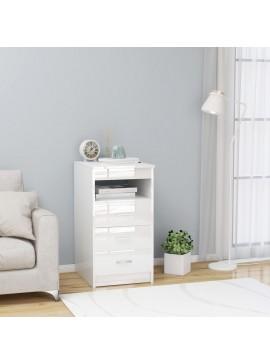 Συρταριέρα Γυαλιστερό Λευκό 40 x 50 x 76 εκ. από Μοριοσανίδα  801811