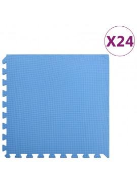 Δάπεδα Προστασίας 24 τεμ. Μπλε 8,64 μ² από Αφρώδες Υλικό EVA  92466