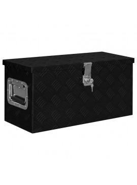 Κουτί Αποθήκευσης Μαύρο 61,5 x 26,5 x 30 εκ. Αλουμινίου   146441