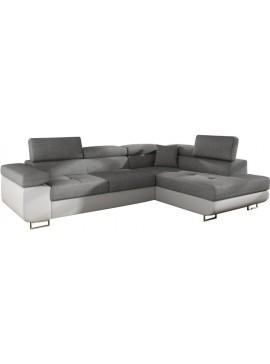 Γωνιακός καναπές Antony-Δεξιά-Λευκό - Γκρι  Κωδ 16388829 Μήκος 275.00 Βάθος 202.00 Ύψος 90.00