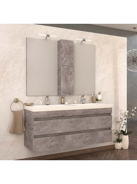 Drop Luxus 120 Granite Έπιπλο Μπάνιου Κρεμαστό 120cm Πλήρες Σετ