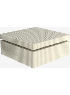 Στρώμα Ύπνου Μονό Χωρίς Ελατήρια Dunlopillo Luxury Range Fine Gray 90 (Πλάτος)  DunlopilloFineGray90