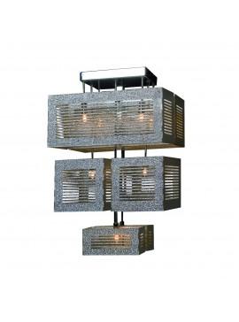 Φωτιστικό Κρεμαστό με 8 λάμπες G-9, 40*38*65 εκ, Χρώμιο.