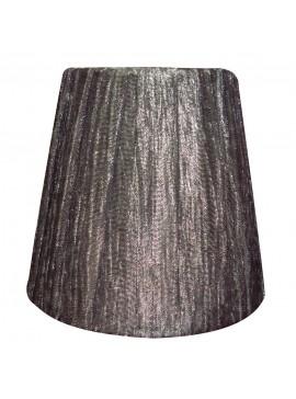 Καπέλο με μανταλάκι, Γκρί-Ασημί  για πολυέλαιο k1 προσαρμόζεται σε λάμπα Ε14 κερί