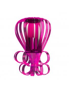 Μοντέρνο Φωτιστικό τοίχου Plexi Glass, Χρώμα Φούξια, 26x12x30. F6-24