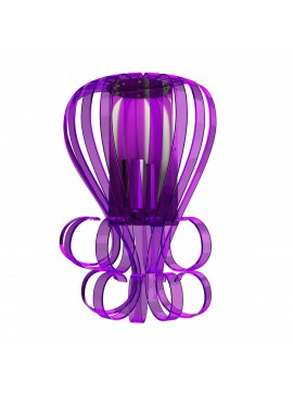 Μοντέρνο Φωτιστικό τοίχου Plexi Glass, Χρώμα Μώβ, 26x12x30. F6-25