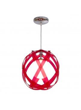 Κρεμαστό Φωτιστικό Plexi Glass, 30εκ. Χρώμα Φούξια. F6-9