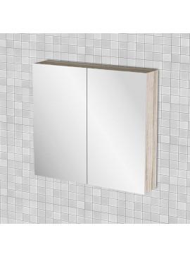 Κρεμαστός Καθρέπτης Μπάνιου Odelia με 2 ντουλάπια 71*14*65 FIL-000742MIRROR