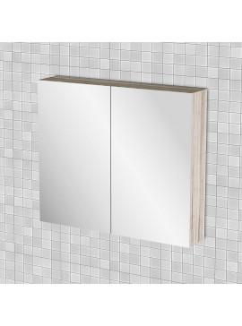 Κρεμαστός Καθρέπτης Μπάνιου Odelia  με 2 ντουλάπια 76*14*65 FIL-000743MIRROR