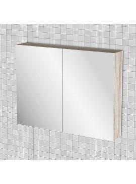Κρεμαστός Καθρέπτης Μπάνιου Odelia  με 2 ντουλάπια 86*14*65 FIL-000748MIRROR