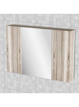 Κρεμαστός Καθρέπτης Μπάνιου Odelia  με 3 ντουλάπια 96*14*65 FIL-000749MIRROR