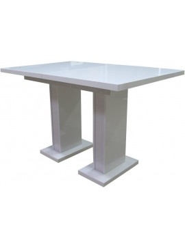 Τραπέζι Gerda-Λευκό  Kωδ 16591529 Μήκος 160.00 Βάθος 80.00 Ύψος 76.00
