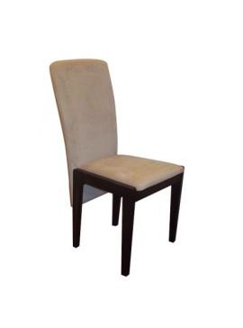 Ξύλινη Καρέκλα 300, Μασίφ Ξύλο, Μπεζ ύφασμα- Καφέ Ξύλο GN-G300