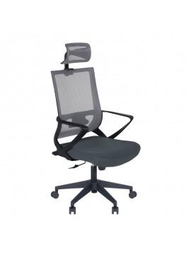 Καρέκλα γραφείου Cooper Megapap με ύφασμα Mesh σε χρώμα γκρι 59x56x123/134εκ. GP003-0001