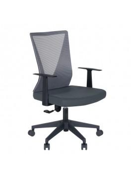 Καρέκλα γραφείου Parker Megapap με ύφασμα Mesh σε χρώμα γκρι 61x59x94/105εκ. GP003-0003