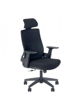 Καρέκλα γραφείου Jordan Megapap με ύφασμα Mesh σε χρώμα μαύρο 66x59x117/128εκ. GP003-0006