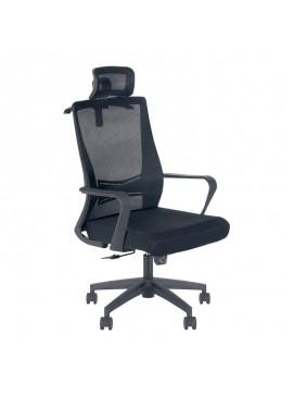 Καρέκλα γραφείου Kevin Megapap με ύφασμα Mesh σε χρώμα μαύρο 60x60x115/126εκ. GP003-0007