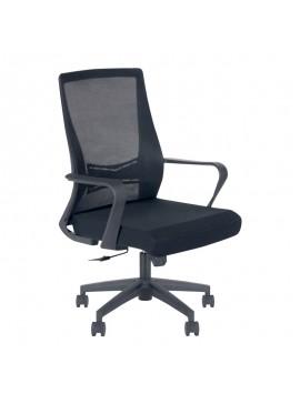 Καρέκλα γραφείου Kevin Megapap με ύφασμα Mesh σε χρώμα μαύρο 60x60x100/107εκ. GP003-0008