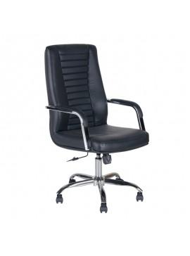Καρέκλα γραφείου Kingston Megapap με τεχνόδερμα σε χρώμα μαύρο 56x68x110/120εκ. GP003-0013