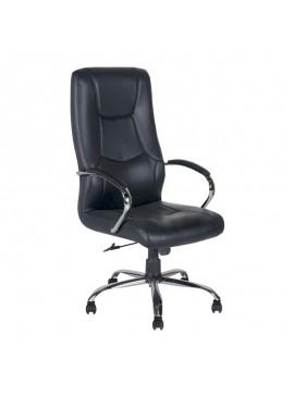 Καρέκλα γραφείου Lana Megapap με τεχνόδερμα σε χρώμα μαύρο 57x69x119/128εκ. GP003-0014