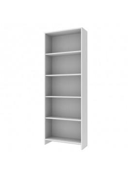 Βιβλιοθήκη Five Megapap σε χρώμα λευκό 63x22x181εκ. GP007-0040