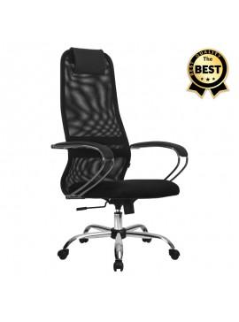 Καρέκλα γραφείου Lord Megapap με ύφασμα Mesh σε χρώμα μαύρο 66,5x70x123/133εκ. GP008-0001