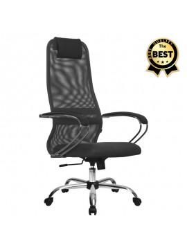 Καρέκλα γραφείου Lord Megapap με ύφασμα Mesh σε χρώμα γκρι - μαύρο 66,5x70x123/133εκ. GP008-0002