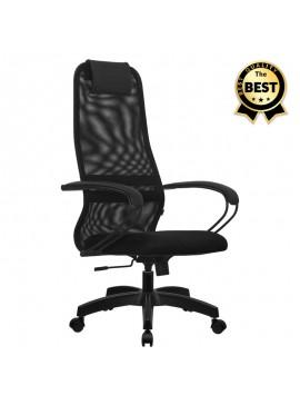 Καρέκλα γραφείου Prince Megapap με ύφασμα Mesh σε χρώμα μαύρο 66,5x70x123/133εκ. GP008-0003