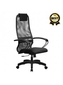 Καρέκλα γραφείου Prince Megapap με ύφασμα Mesh σε χρώμα γκρι - μαύρο 66,5x70x123/133εκ. GP008-0004
