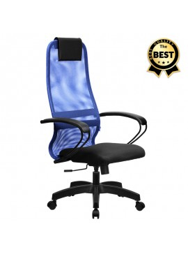 Καρέκλα γραφείου Prince Megapap με ύφασμα Mesh σε χρώμα μπλε - μαύρο 66,5x70x123/133εκ. GP008-0006