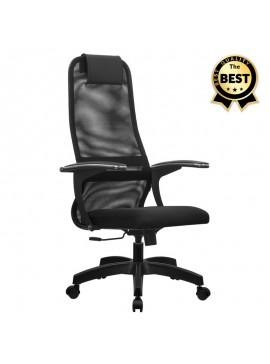 Καρέκλα γραφείου Chief Megapap με ύφασμα Mesh σε χρώμα μαύρο 66,5x70x123/133εκ. GP008-0007