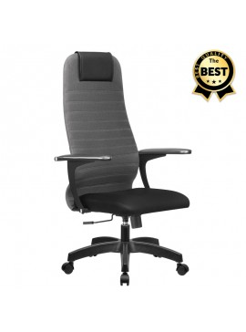 Καρέκλα γραφείου Darkness Megapap με διπλό ύφασμα Mesh σε γκρι - μαύρο 66,5x70x123/133εκ. GP008-0010