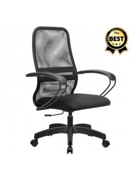 Καρέκλα γραφείου Moonlight Megapap με ύφασμα Mesh σε χρώμα μαύρο 66,5x70x102/112εκ. GP008-0011