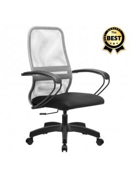 Καρέκλα γραφείου Moonlight Megapap με ύφασμα Mesh σε χρώμα γκρι - μαύρο 66,5x70x102/112εκ. GP008-0012