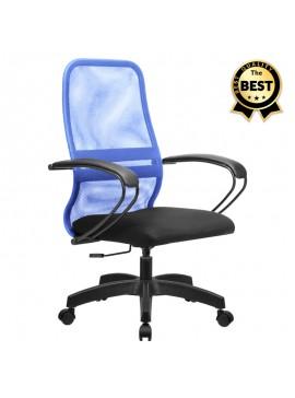 Καρέκλα γραφείου Moonlight Megapap με ύφασμα Mesh σε χρώμα μπλε - μαύρο 66,5x70x102/112εκ. GP008-0014
