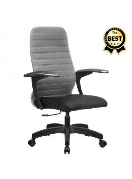 Καρέκλα γραφείου Melani Megapap με διπλό ύφασμα Mesh σε χρώμα γκρι - μαύρο 66,5x70x102/112εκ. GP008-0016