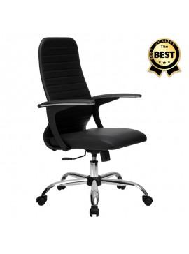 Καρέκλα γραφείου Molto Megapap με διπλό ύφασμα Mesh σε χρώμα μαύρο 66,5x70x102/112εκ. GP008-0017