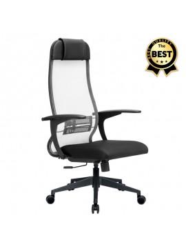 Καρέκλα γραφείου εργονομική Antonio Megapap με ύφασμα Mesh σε μαύρο - γκρι 66,5x70x111,8/133εκ. GP008-0019