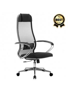 Καρέκλα γραφείου εργονομική Dante Megapap με ύφασμα Mesh σε μαύρο 66,5x70x111,8/133εκ. GP008-0020