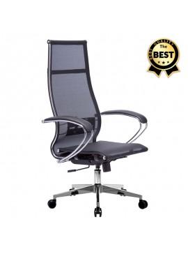 Καρέκλα γραφείου εργονομική Berta Megapap με ύφασμα Mesh σε χρώμα μαύρο 66,5x70x113,3/131εκ. GP008-0021
