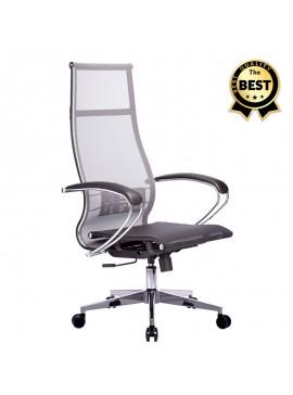 Καρέκλα γραφείου εργονομική Berta Megapap με ύφασμα Mesh σε γκρι - μαύρο 66,5x70x113,3/131εκ. GP008-0022