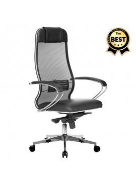 Καρέκλα γραφείου εργονομική Samurai-1 Megapap με ύφασμα Mesh σε μαύρο 70x71x123/138εκ. GP008-0024