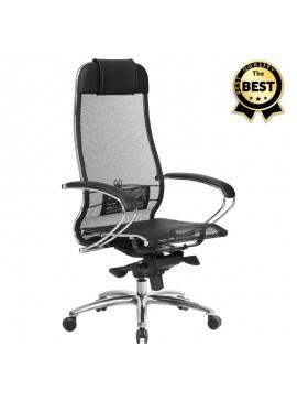 Καρέκλα γραφείου εργονομική Samurai-2 Megapap με ύφασμα Mesh σε μαύρο 70x71x123/138εκ. GP008-0026