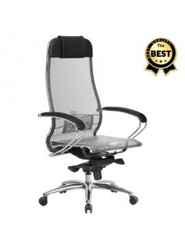 Καρέκλα γραφείου εργονομική Samurai-2 Megapap με ύφασμα Mesh σε γκρι - μαύρο 70x71x123/138εκ. GP008-0027