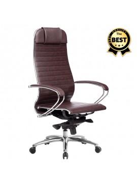 Καρέκλα γραφείου εργονομική Samurai-3 Megapap από τεχνόδερμα σε μπορντώ 70x71x123/138εκ. GP008-0029