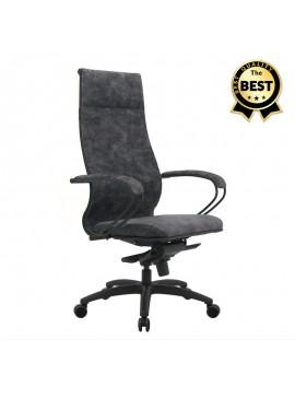 Καρέκλα γραφείου Lux Megapap εργονομική με ύφασμα velour σε χρώμα marble γκρι 70x70x124/134εκ. GP008-0038