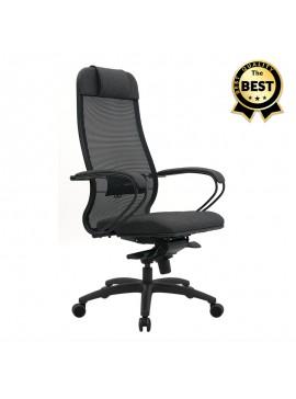 Καρέκλα γραφείου Samurai Comfort N.18 Megapap εργονομική με ύφασμα Mesh σε χρώμα γκρι 70x70x124/134εκ. GP008-0039